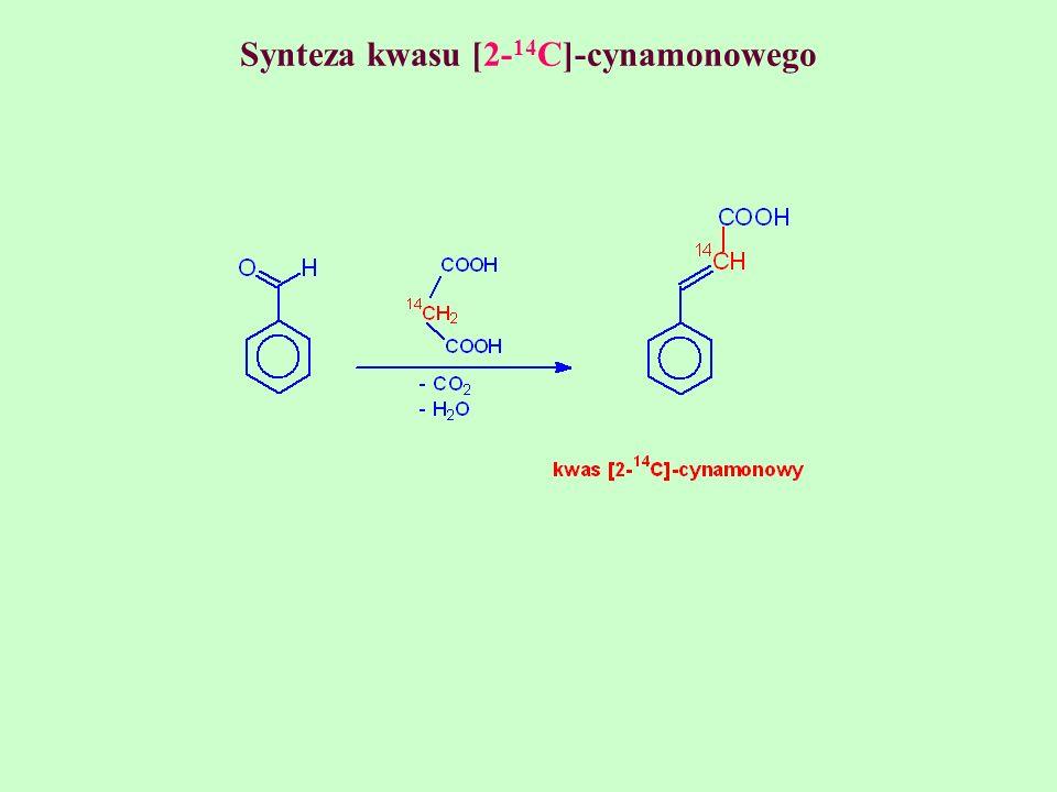 Synteza kwasu [2-14C]-cynamonowego
